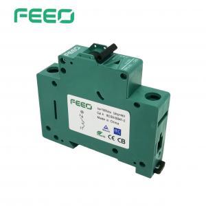 Best Green Shell 6KA 4P DC MCB Miniature Circuit Breaker Overcurrent Protection wholesale