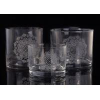 Best Clear Replacement Glass Candle Holders With Laser Engraved Etching Logo wholesale