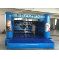 Best Elsa Themed Inflatable Bouncy Castle Blue Color Tear Resistance Quick Delivery wholesale