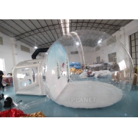 Best Christmas Decor Clear Inflatable Bubble Tent With Blowing Snow wholesale