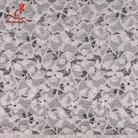 Buy cheap Fashion Swiss Lace Fabric 140cm Width / Embroidered Bridal Lace Fabric from wholesalers