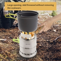 """Best 5.1""""X7.7"""" SS Backpacking Stove Collapsible For Camp wholesale"""