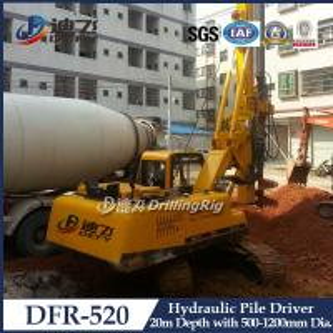 Best Hydraulic Piling Driver Machine DFR-520 Mounted on Crawler,20m Hydraulic Bore Pile Machine wholesale