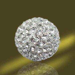 Best White Shamballa Crystal Ball (AV03197) wholesale