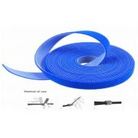 Cheap Heat Resistant Strong Adhesive Hook And Loop Cable Wrap Blue Waterproof for sale