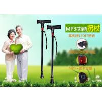 Quality wholesale walking stick with mp3,aluminium alloy walking cane with mp3, multinational telescopic crutch, wholesale