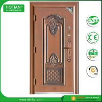 Best water proof exterior steel apartment building entry doors imitated copper door design wholesale