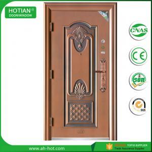 Best water proof exterior steel apartment building entry doors imitated copper door design wholesale
