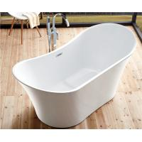 Cheap Back To Wall White Slipper Soaking Tub , 5 Ft Freestanding Soaking Tub Indoors for sale
