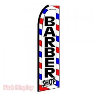 Best Pink Display Barber Shop Teardrop Feather Flags wholesale