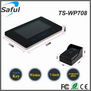China 7 inch wireless door bell lcd video door phone intercom on sale