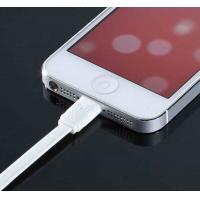 Best White TPE Flat Micro USB Cable 8Pin Multifunctional For Iphone 5 wholesale