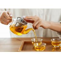 China Herbal Glass Tea Pots With Infuser Stainless Steel Filter Heat Resistant Lid on sale