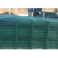 Best Triangular V Type PVC Coated Welded Wire Mesh Fencing / Green Metal Fencing wholesale