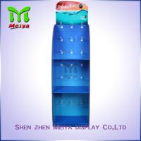 Cheap Colorful Printed 3 -Tiers Customized Corrugated Paper Hook Display Stand for for sale