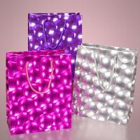 Best 3D Bubble Embossed Jewelry Gift Bags Flat Paper Handle Durable For Promotion wholesale