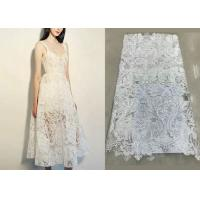 Best Shiny Sequin Embroidered Floral Beaded Bridal Lace Fabric Light And Transparent Texture wholesale