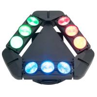 Best Disco Lighting 9 Heads 10W 4 IN 1 LED Spider Moving Head Beam Light Energy Saving  X-93 wholesale