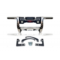 China LEDs Grille Guard With Skid Plate Pickup Truck Bull Bar on sale