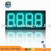 Best Green Color Outdoor  Waterproof RF Remote Control High Brightness LED Gas Price Changer wholesale
