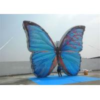 Quality outdoor advertising inflatable butterfly beautiful blue high