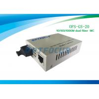 Best 20Km Single Mode Fiber Media Converter 10 / 100 / 1000Base - Tx to 1000Base - LX MC 1310nm wholesale