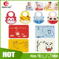 Best Customized Animal Printed Baby Tablemat Silicone Bibs For Babies wholesale