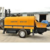 China Compact Structure Trailer Mounted Concrete Pump 30 Times / Min Delivery Speed on sale