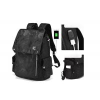 China High Quality New Arrival Trend Casual Men Backpack All Black Backbag for Sale on sale