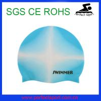 Best Speedo flexible mix color silicone swim cap wholesale