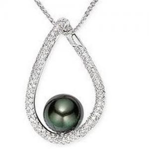 Best Pendant(Diamond & 10-11mm Tahitian Cultured Pearl Pendant wholesale