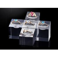 Best Transparent Acrylic Display Stands Simple Design For Diamond Rings Displaying wholesale