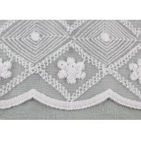 Cheap White Embroidered Floral Lace Fabric Milk Silk Nylon Mesh Fabric For Wedding for sale