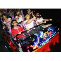 Buy cheap Hydraulic 7D Cinema System , 9 Individual Motion Chair with Special Effects Machine from wholesalers