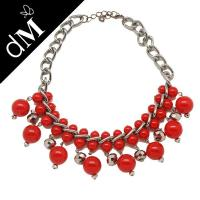 Best Red exquisite craftsmanship beaded handcrafted necklaces for women (JNL0136) wholesale