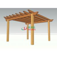 Best Prefabricated Home Depot Outdoor Pergola , High Density WPC Backyard Pergola Kits wholesale