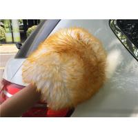 Best Sheepskin Car Wash Mitt Long Merino Wool Genuine Sheepskin Car Cleaning Glove wholesale