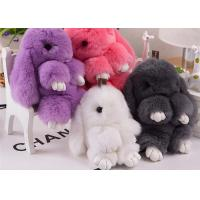 Best Big Size Real Rabbit Fur Keychain 20cm Cute Shape Portable For Girl Bag wholesale