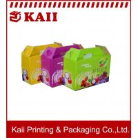 China Colorful Fruit Packaging Box / Paper Packing Boxes With  A9 + 157g Art Paper For Promotion on sale