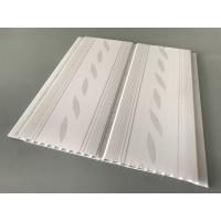 Cheap 200*7mm Middle Groove Decorative Plastic Ceiling Panels With Two Silver Line for sale