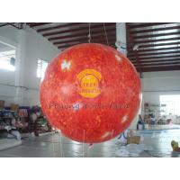 Best 2.5m helium PVC Fireproof with B1 Certificate and Waterproof Sun Earth Balloons Globe with Total Digital Printing wholesale