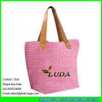 Details Of Luda Fashion Pink Straw Shopper Bag Cheap Paper