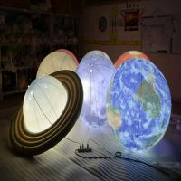 China 1m Inflatable Advertising Balloons / LED Lighting Universal Globe for Decoration on sale