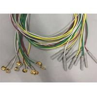 Best Golden Plated Electrodes EEG Cables 1.2m / 1.5m Length TPU Cable Material wholesale