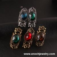 Best Magnificent Metal Different Colors Resin Punk Rock Jewelry Ring wholesale