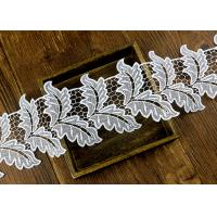 Best Leaf Guipure Polyester Lace Trim With Water Soluble Reach L4 High Color Fastness wholesale