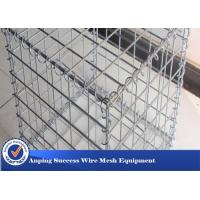 Best Silver Galvanized Gabion Mesh Cage / Stone Cage Wire Mesh Easy Install wholesale