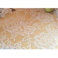 Best Embroidered Floral Sequin Netting Fabric , Sequin Tulle Fabric For Ivory Wedding Dresses wholesale
