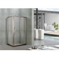China Rose Gold Full Aluminum Alloy Rectangular Shower Cubicles With Octagonal Wheel on sale