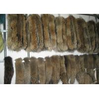 Best Brown Real Fur Hood Trim For Cloth , Raccoon Detachable Real Fur Collar 30 Cm * 80 Cm wholesale